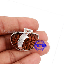 Load image into Gallery viewer, 1 Mukhi Rudraksha in Pure Silver Sword Pendant - Bead No. 67