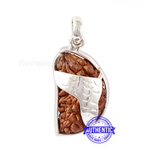 Load image into Gallery viewer, 1 Mukhi Rudraksha in Pure Silver Pendant - Bead No. 69