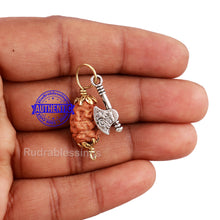 Load image into Gallery viewer, 2 Mukhi Indonesian Rudraksha with Lucky Charm Axe Pendant