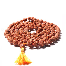 Load image into Gallery viewer, 5 mukhi Rudraksha Japa mala - 7 mm