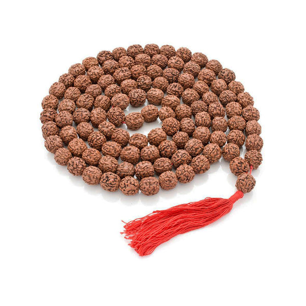 5 Mukhi Rudraksha Mala (Semi smooth beads) - 6-7mm