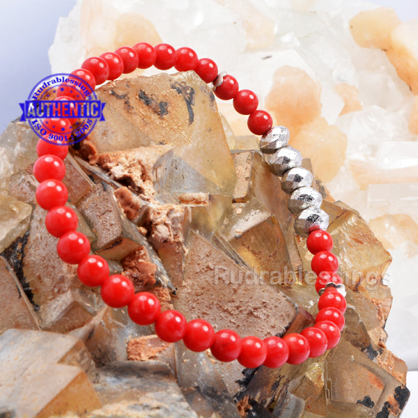 Coral + Faceted Parad Beads Bracelet