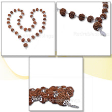Load image into Gallery viewer, 7 Mukhi Rudraksha Mala - 36+1 beads-Nepalese (Pure Silver)