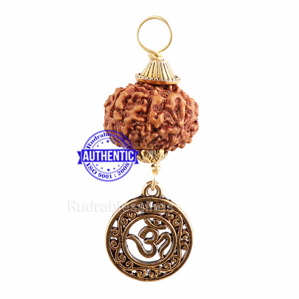 7 Mukhi Rudraksha from Indonesia - Bead No. 14 (with Om pendant)