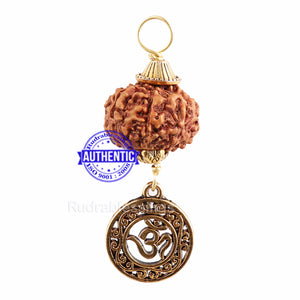 10 Mukhi Rudraksha from Indonesia - Bead No. 148 (with Om pendant)