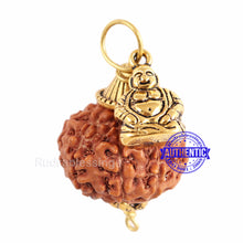 Load image into Gallery viewer, 7 Mukhi Rudraksha from Indonesia - Bead No. 1 (With Laughing Buddha Accessory)