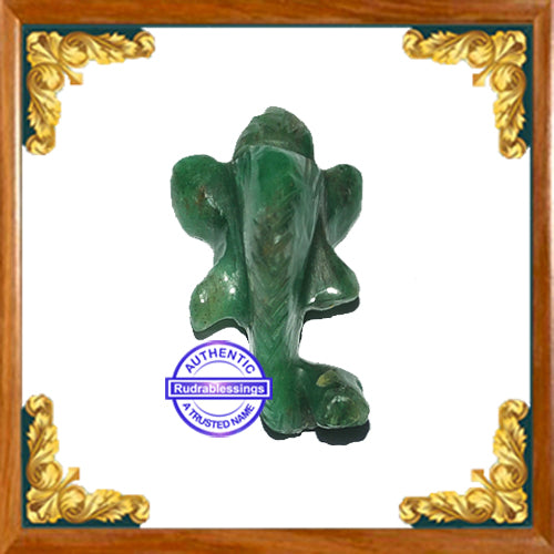 Green Aventurine Ganesha Carving - 2