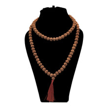 Load image into Gallery viewer, 5 mukhi Rudraksha Japa mala - 8/9mm