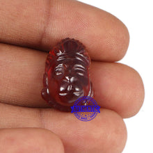 Load image into Gallery viewer, Gomedh / Garnet Hanuman Carving - 12