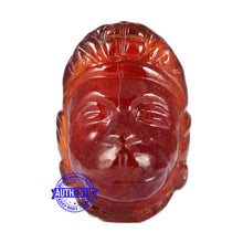 Load image into Gallery viewer, Gomedh / Garnet Hanuman Carving - 1