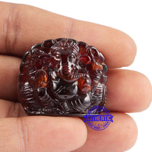 Load image into Gallery viewer, Gomedh / Garnet Ganesha Carving - 2