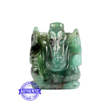 Load image into Gallery viewer, Emerald Ganesha Carving - 36