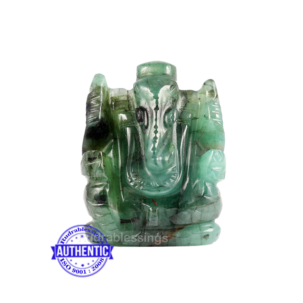 Emerald Ganesha Carving - 36