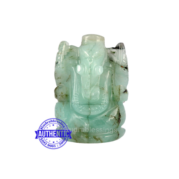 Emerald Ganesha Carving - 37