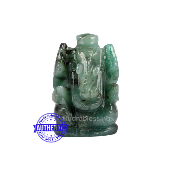 Emerald Ganesha Carving - 38