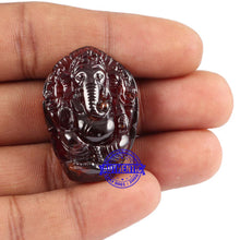 Load image into Gallery viewer, Gomedh / Garnet Ganesha Carving - 8