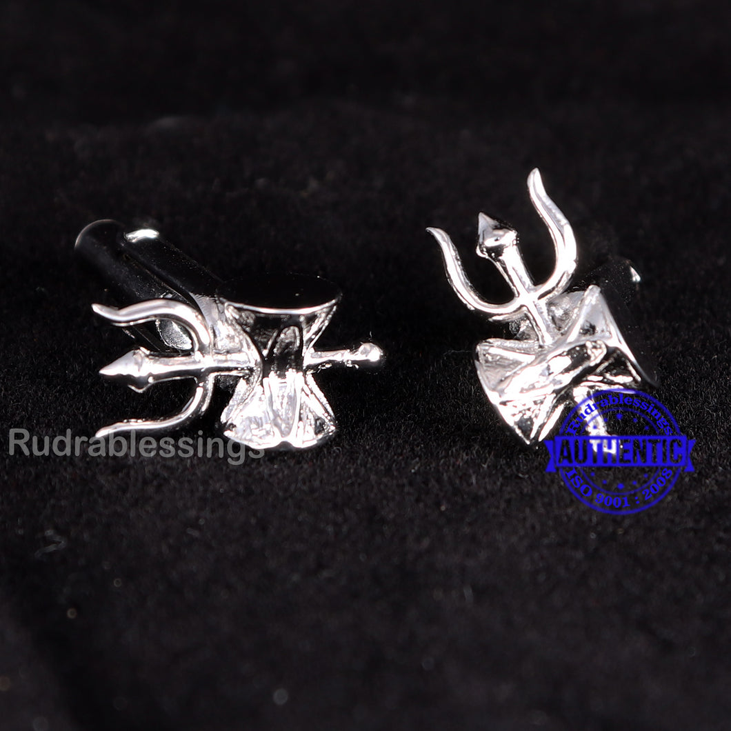 Trishul with Damru Cufflinks - 6