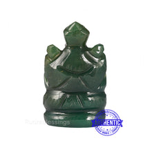 Load image into Gallery viewer, Green Jade Ganesha Statue - 108 D