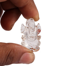 Load image into Gallery viewer, Rock Crystal (Sphatik) Ganesha Statue - 107
