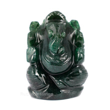 Load image into Gallery viewer, Green Jade Ganesha Statue - 62