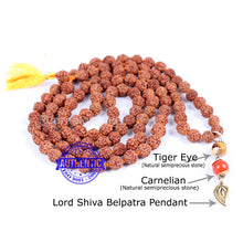 Load image into Gallery viewer, 5 Mukhi Exclusive designs Rudraksha Mala with semi precious stones and accessory - 1