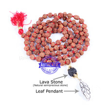 Load image into Gallery viewer, 5 Mukhi Exclusive designs Rudraksha Mala with semi precious stones and accessory - 4