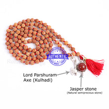 Load image into Gallery viewer, 5 Mukhi Exclusive designs Rudraksha Mala with semi precious stones and accessory - 15