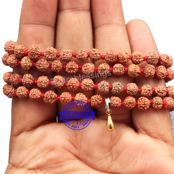 5 mukhi Rudraksha mala with Accessory Gada