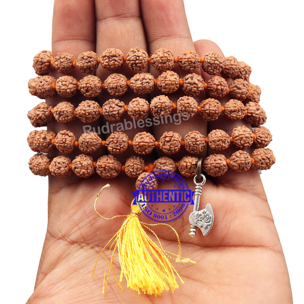 5 mukhi Rudraksha mala with Accessory Axe