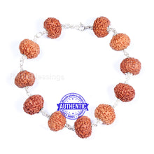 Load image into Gallery viewer, 8 Mukhi Rudraksha Bracelet (Pure silver) - Type 2