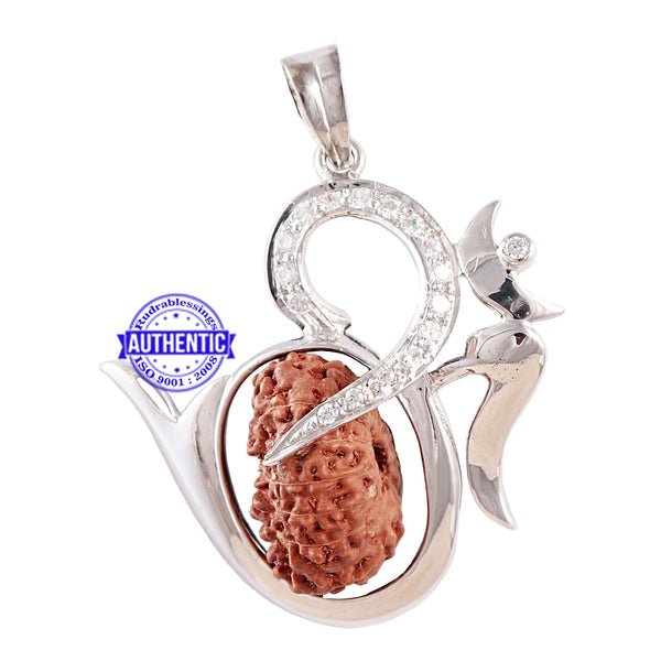 Exclusive Designer OM Pendant with 14 Mukhi Rudraksha