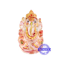 Load image into Gallery viewer, Sphatik (Rock Crystal) Ganesha Statue - 1