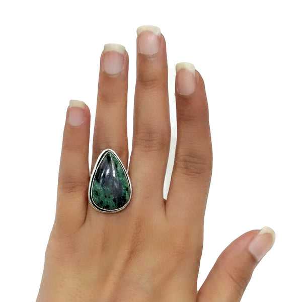 Ruby Zoisite Ring - 13