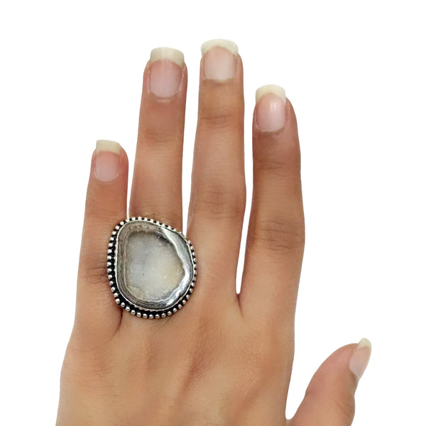 Agate Druzy Ring - 18