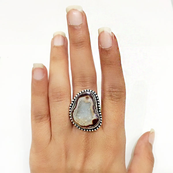 Agate Druzy Ring - 1