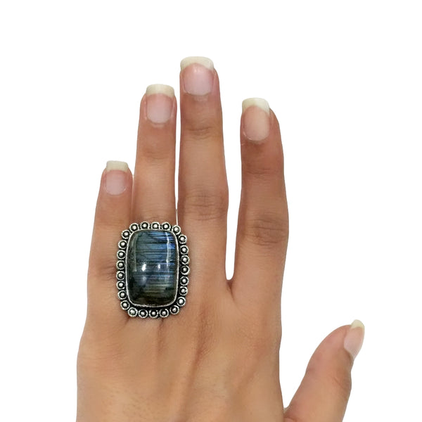 Labradorite Ring - 22