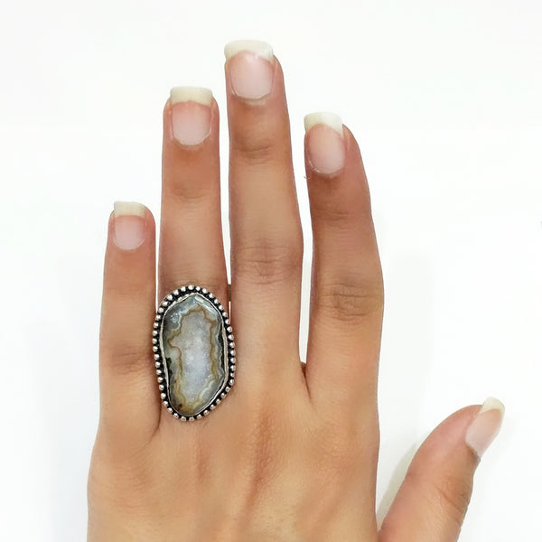 Agate Druzy Ring - 2