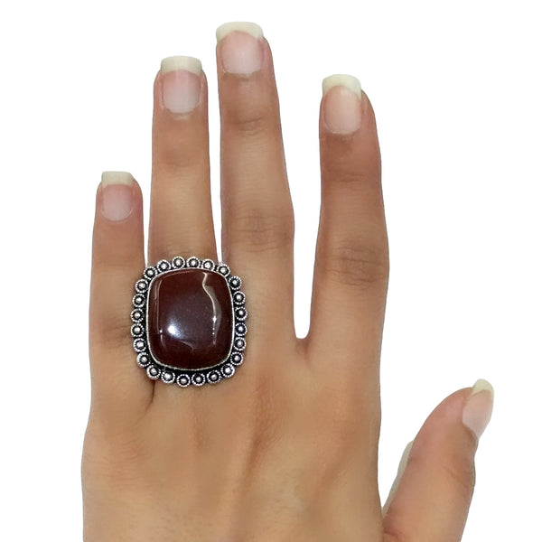 Brown Jasper Ring - 30