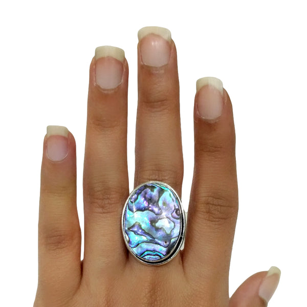 Green Abalone Ring - 41