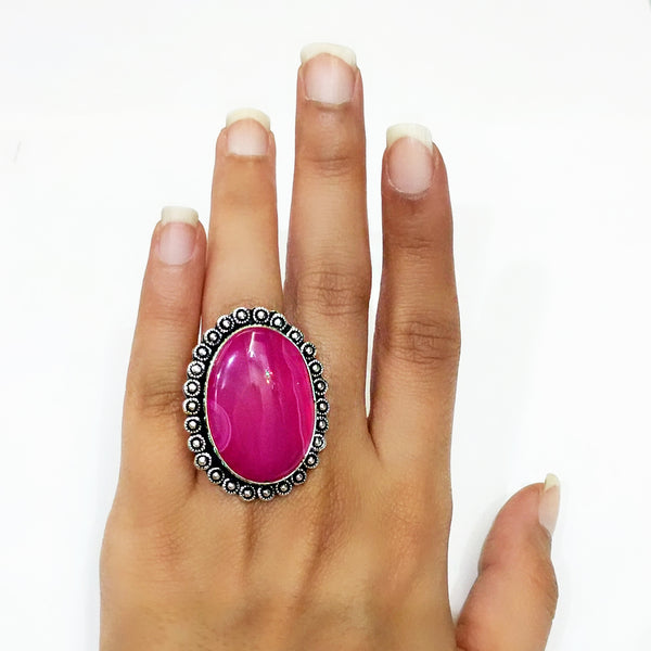 Dyed Agate Ring - 5