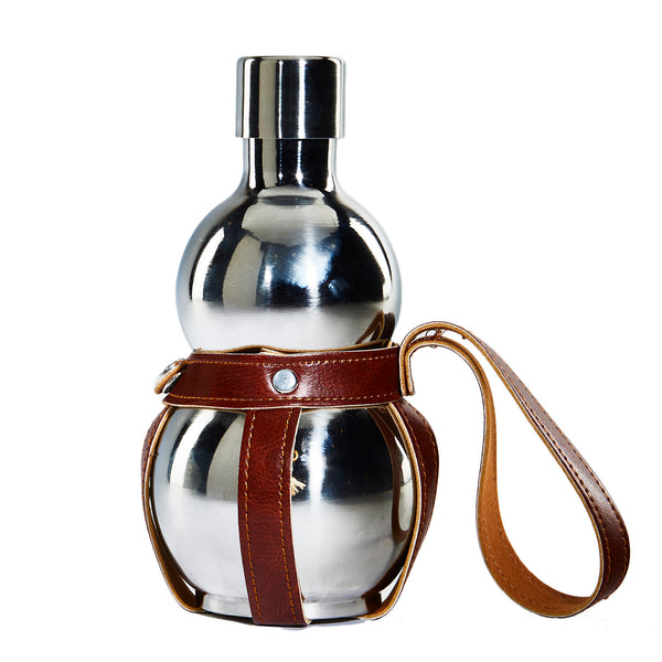 Steel Hip Flask with Regzin Strap