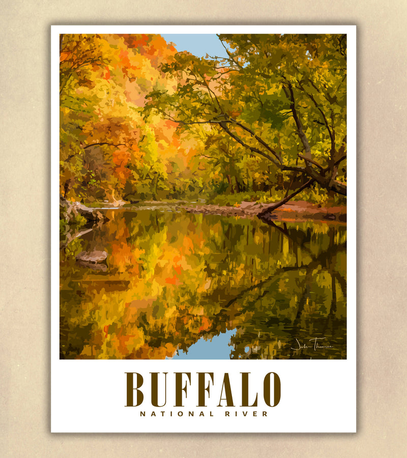 Buffalo National River Travel Poster | Ponca| Arkansas USA | Print Only