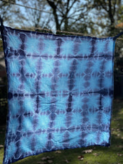 Shibori Tea Towels in Indigo