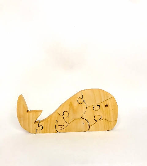 Wooden Whale Puzzle