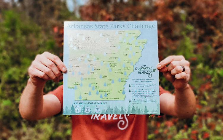 State Parks Challenge Scratch-Off Map