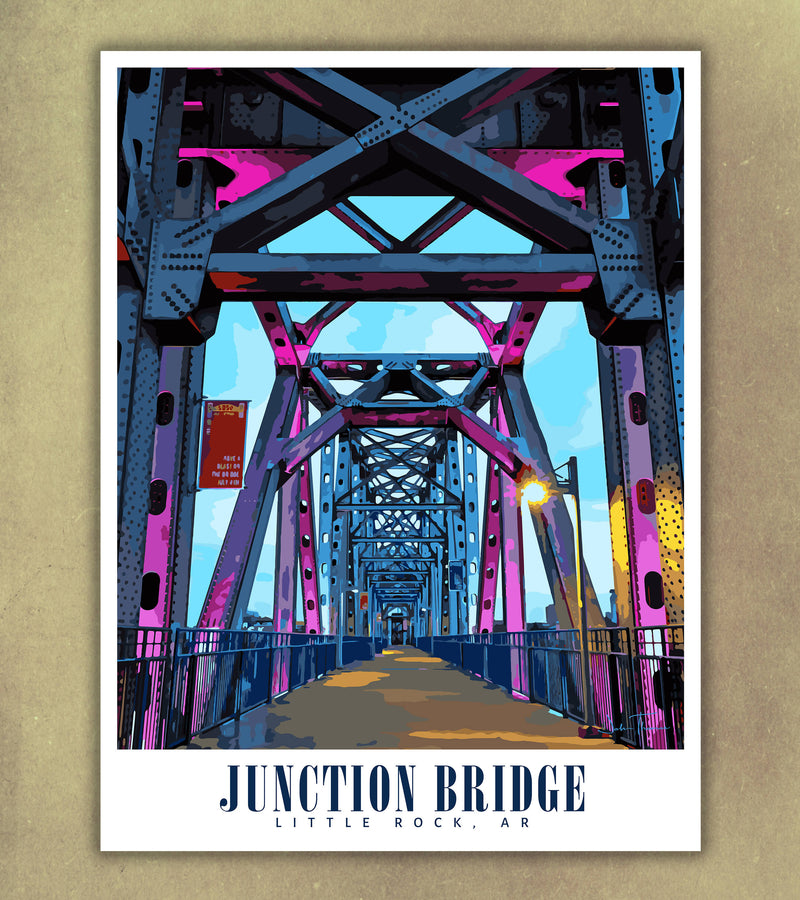 Little Rock Junction Bridge Souvenir Poster | Print Only (frame not included)