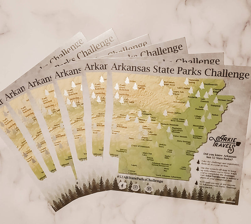 6-Pack State Parks Scratch-Off Maps