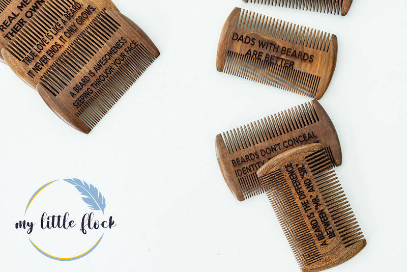 Laser Engraved Beard Combs