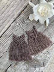 Macrame Fringe Earrings