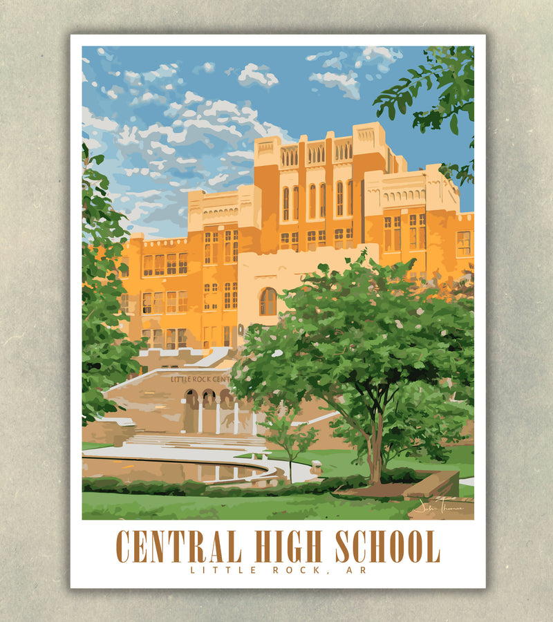 Little Rock Central High Souvenir Poster | Historic | Print Only (Frame Not Included)